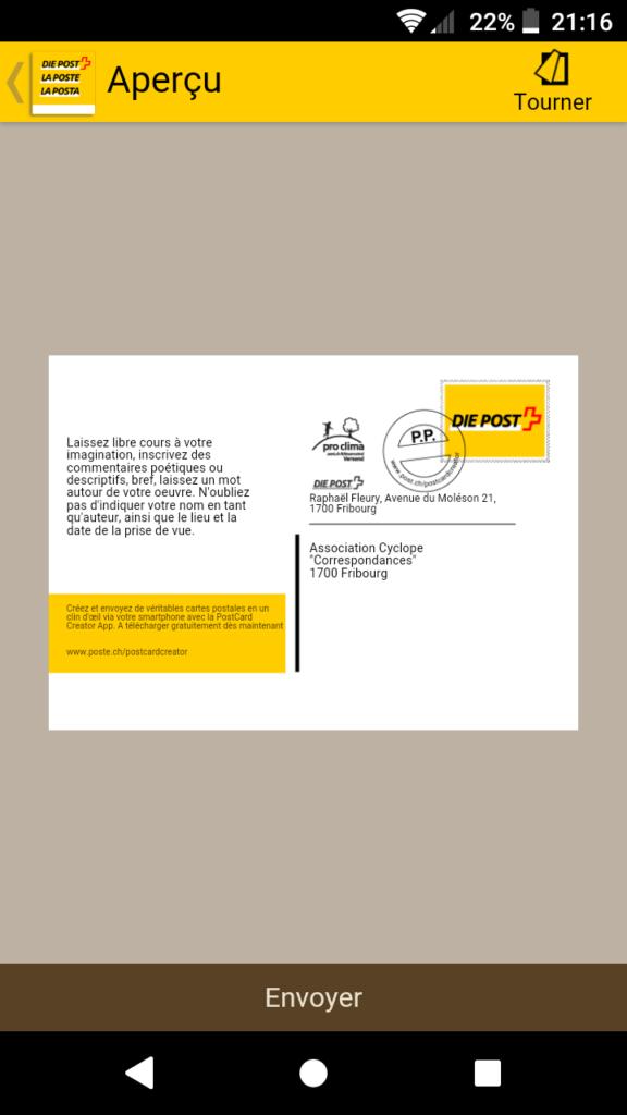 Utiliser l'application de la Poste pour envoyer une carte postale gratuitement - Cyclope